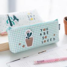 Nice Strong Cactus Plant Capacity Pencil Bag Stationery Storage Organizer Case School Supply(China)