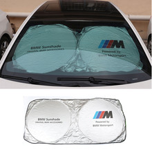 Tyvek Car Sunshade Sun Shield UV-proof M Power Emblem Motorsport Performance Sunscreen Shade for BMW E30 E60 F30 E46 E39 E90 E36