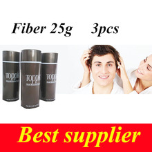 TOPPIK Black Hair Buildng Fiber hair treatment fibers for growth suddenly Powder Growth 9 color for choose fiber 25g*3(China)