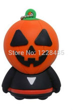 Hot sale!! Halloween pumpkin model usb flash drive 2GB 4GB 8GB 16GB 32GB pendrive 64GB usb flash memory stick gift for kids S504