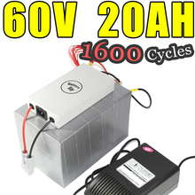 60v 20ah lifepo4 battery for electric bicycle battery pack scooter ebike 1000w