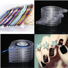 10 Rolls Striping Tape Line Sticker Tips + 6 Layer Case Tool Box Holder Nail Art Manicure Decoration Professional(China)