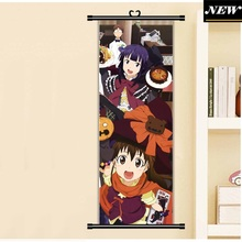 45X125CM Working!! Wagnaria!! Halloween pumpkin Japan Cartoon Anime art wall picture mural poster cloth scroll canvas painting