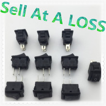 10pcs/lot 10*15mm SPST 2PIN ON/OFF G130 Boat Rocker Switch 3A/250V Car Dash Dashboard Truck RV ATV Home(China)