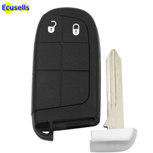 3pcs/lot New Keyless Smart Remote Key Case for Dodge Journey 2011-2015 2 Buttons +Blade key shell fob for Chrysler for Jeep(China)
