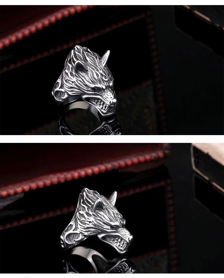 แหวนผู้ชายเท่ห์ๆ Code 043 แหวน หมาป่าดุ Game of thrones สแตนเลส9