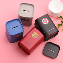 New Metal Square Piggy Bank Money Saving Coin Box Storage Coin Bank Pen Holder Money Saving Box
