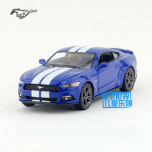 Free Shipping/1:38 Scale/2015 Ford Mustang GT (With Printing)/Classical Educational Model/Pull back Diecast Metal toy/Collection