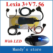 Promotion Newly diagbox V7.56 with LED cable Professional Diagnostic Tool PP2000 Lexia 3 original V47 Lexia3 pp2000