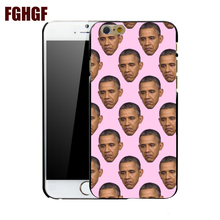 obama 3 fashion mobile phone hard case cover for iphone 4 4S 5 5S 5C SE 6 plus 6s plus 7 7 plus 8 8plus x(China)