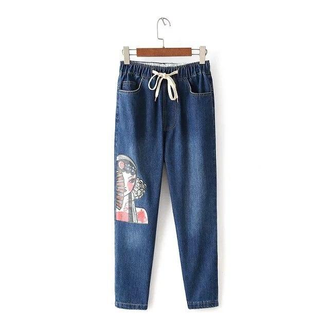 2017 autumn winter women harem pants jeans plus size loose trousers for women denim pants Capris jeans for woman S M LОдежда и ак�е��уары<br><br><br>Aliexpress