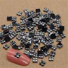 Buy 4*4mm 1000pcs Square Flatback Resin Rhinestone Mine Silver Stone DIY Nail Art Mobile Phone Scrapbooking for $1.09 in AliExpress store