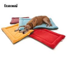 Gomaomi Pet Cushion Mat Warm Dog Mattress Pad for Pet House/Kennels/Cage/Crate/Bed(China)