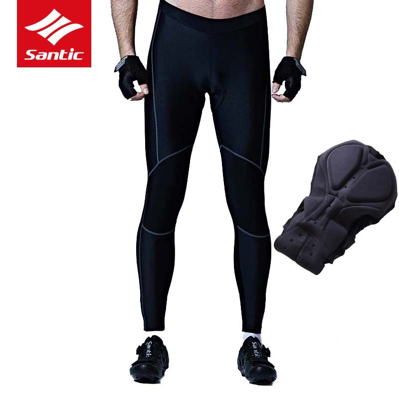 Santic 2017 Cycling Pants Men Quick Dry Breathable Sponge Pads Bicycle Bike Long Pants MTB Downhill Cycle Riding Tights Clothes <br>