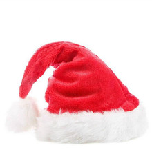 2017 Navida New Arrival Christmas Hats Caps Santa Claus Xmas Cotton Cap Christmas Gift New Year Cap Merry Christmas Decoration(China)