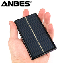 5pcs/lot Solar Panel Portable Mini 6V 1W Sunpower DIY Module Panel System For Solar Lamp Battery Toys Phone Charger 110*60mm