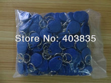 No. 2; 100pcs/Lot RFID Card 125KHz Smart Card Rfid tag( bule red yellow) OEM(China)