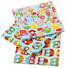 New Arrivals High Quality Cartoon Owl Patchwork Cotton Fabric Textiles Sewing For Bags Clothes Curtain Tissue 40X50cm J-3-10
