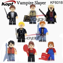 Single Sale Buffy the Vampire Slayer Series Angel Spike Willow OZ Super Heroes Building Blocks Bricks Toys for children KF6018(China)