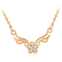 HOT Gold  Jewelry  Your feet  fashion Angel wings Pendant Necklace Shell Pearl Necklace Fashion Necklace Free Shipping