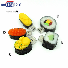 new arrival japanese food model usb flash drive 4G/8G/16G/32G all kinds of sushi Pen Drive Disk Flash Memory Stick usb creativo