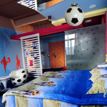 kids room football lamp basket ball ceiling lamp bar novelty lighting children room bedroom coffee shop glass ceiling light
