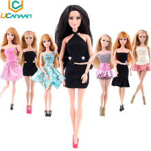 2016 Randomly Pick Clothes A Lot = 20 Sets Fit Barbi Doll  Fashion Lady Outfit Wear  Shorts Pant Skirt Clothes for Barbi Doll