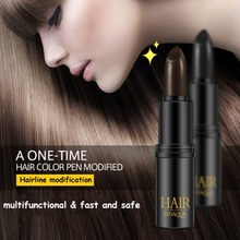 Profession Temporary Hair Dye Cream Black/ Brown Mild Fast One-off Hair Color Pen Cover White Hair DIY Styling Makeup Stick