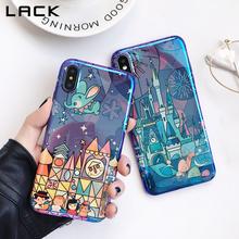 LACK Fireworks Cartoon Phone Case For iphone 7 6 6s 8 Plus Cases For iphone X Blu Ray Fairy Tale Castle Soft Back Cover Coque(China)