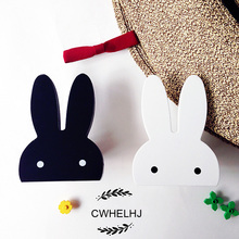 2016 Ins Cute Bunny Wooden Wall Sticker Clothes Hook kids Room Decoration Baby Home Eco-friendly Rabbit Hanger Hook Kid Gift