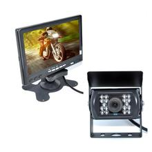 "12-24V Car Reversing Kit 7"" TFT LCD Monitor + CCD IR Backup Camera For Van/Truck"
