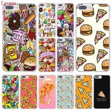 Lavaza Fashion Chips Pizza food Hamburgers Hard Phone Case for Apple iPhone 8 7 6 6S Plus X 10 5 5S SE 5C 4 4S