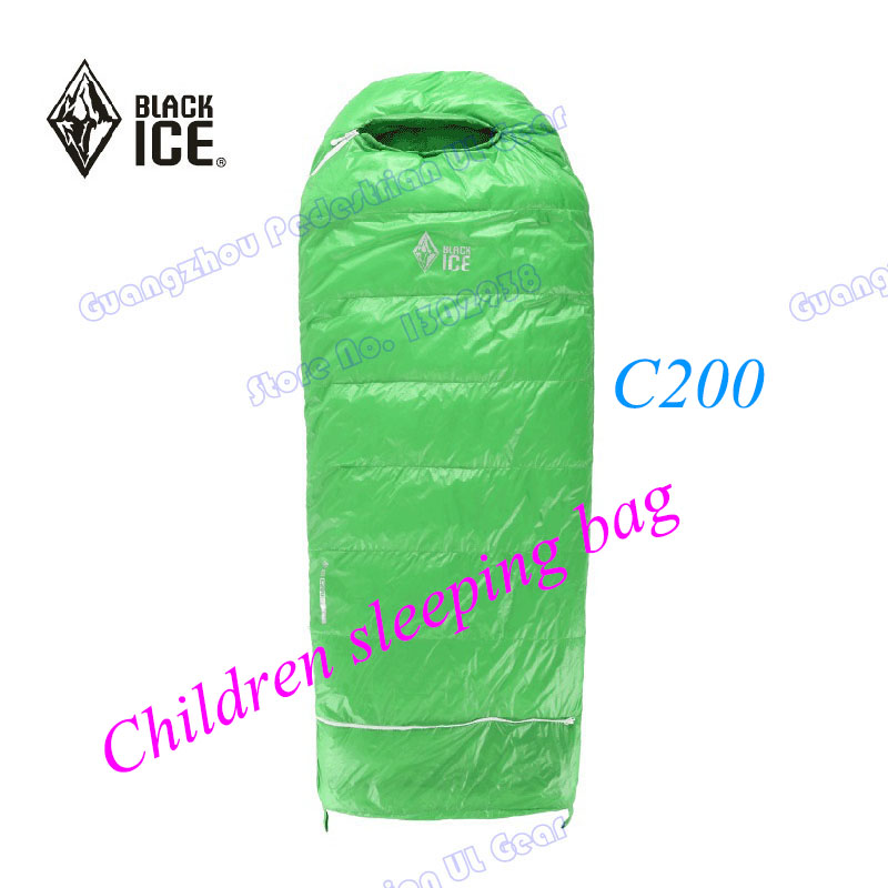 Black Ice Children white goose down high quality summer spring sleeping bag(China)