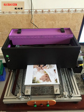 KAIBAICEN Semi-auto A4 UV Inkjet Printer print on common Metal/Wooden/Plastc/TPU/PVC with Embossed effect(China)