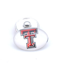 Snap Button 18mmX25mm NCAA Texas Tech Red Raiders Charms Interchangeable Buttons Bracelet Basketball Fans Gift Paty Birthday(China)