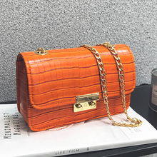 crocodile brand designer flap bag fashion chain crossbody bags women candy color summer handbags ladies shoulder messenger bags