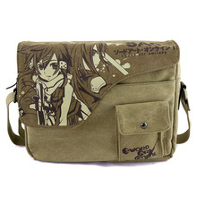 Anime Sword Art Online Cosplay 2017 new retro canvas shoulder Messenger bag men and women casual shoulder bag