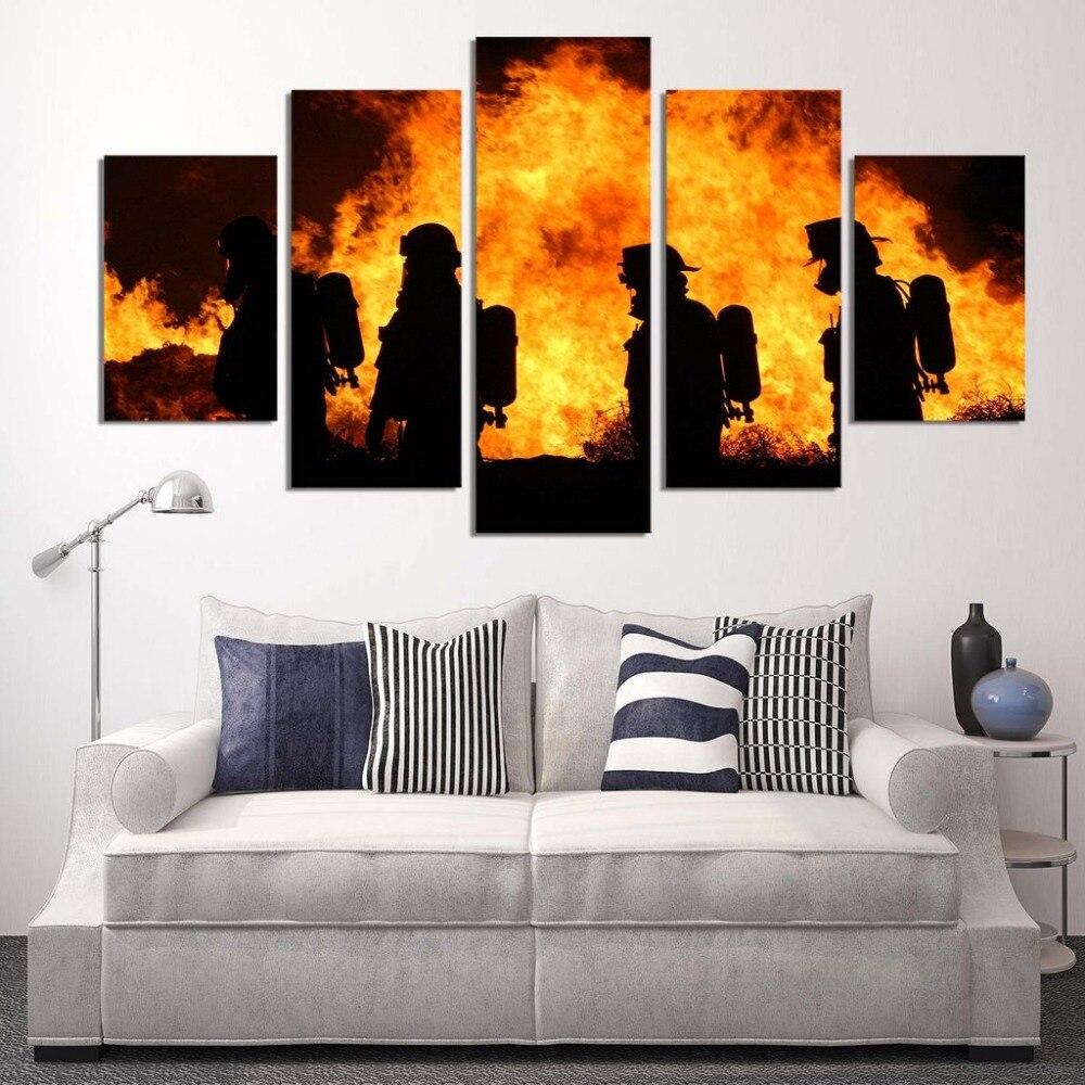 Firefighter Wall Art wall decor fireman promotion-shop for promotional wall decor