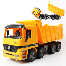 Vehicles Large Boy 1:22 Simulation Dump Truck Sandy Beach Children's Favorite Toy Inertia Car Pull Back Model Kids Gift Toys