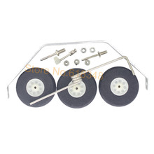 Aluminum Main Landing Gear Wheel Kit RC Airplane Cessna 182 Parts Replacement 40 Size ARF PNP(China)