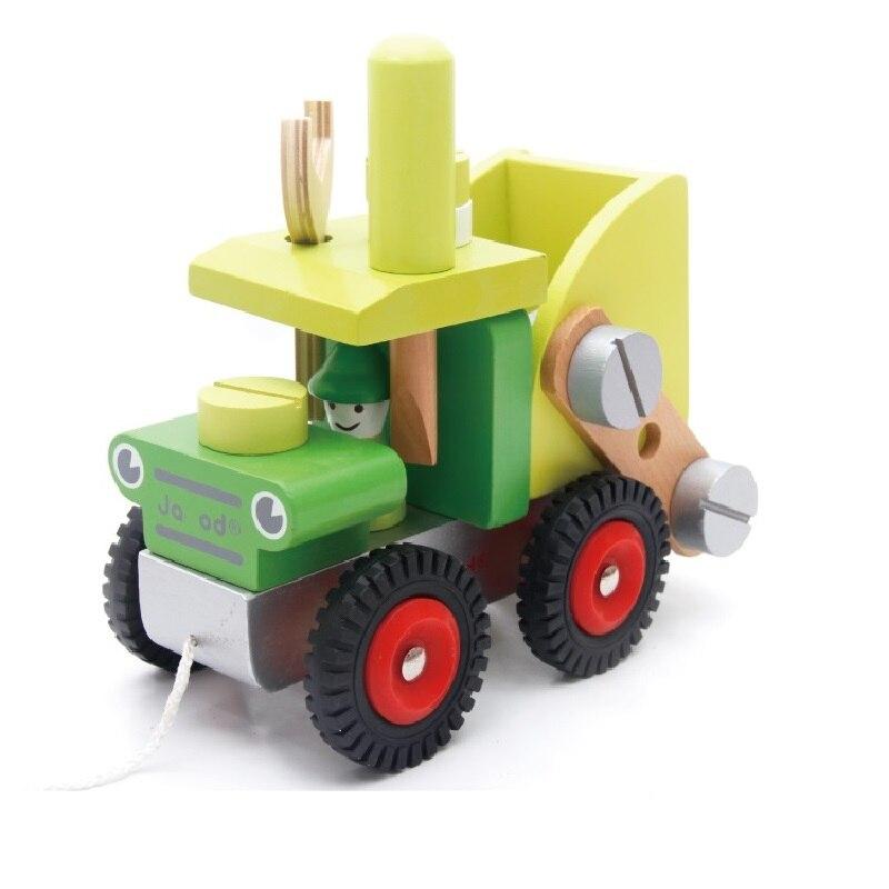 Free Shipping Children Developmental Wooden DIY Truck Blocks Montessori Kids Baby Educational Toys Building Blocks Best Gift<br><br>Aliexpress