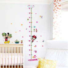 % minnie mickey growth chart wall stickers for kids room decoration cartoon mural art home decals children gift height measure