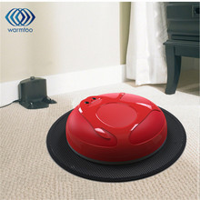 1Pcs Newly Red Rechargeable Intelligent Robot Robotic Vacuum Cleaner Auto Clean Hard Floor Mop Sweeping Machines