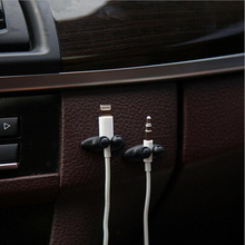 Low Promotions Good Quality Car Adhesive Headphone USB Charger Line Auto Multi-purpose Fastener Clip Car Accessories(China)