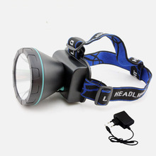 Powerful Led Mining Light headlamp Miner's rechargeable Battery head lamp light torch 3 color white blue yellow light fishing