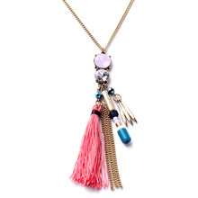 New Arrival Necklace Casual Handmade Well Suited Long Pendant Tassel Gold Color For Women Friends Decorative