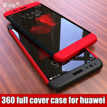 luxury 360 Full body phone case for huawei P10 lite P8 P9 lite case Hard PC back cover For huawei P10 lite P10 PLUS phone cases(China)