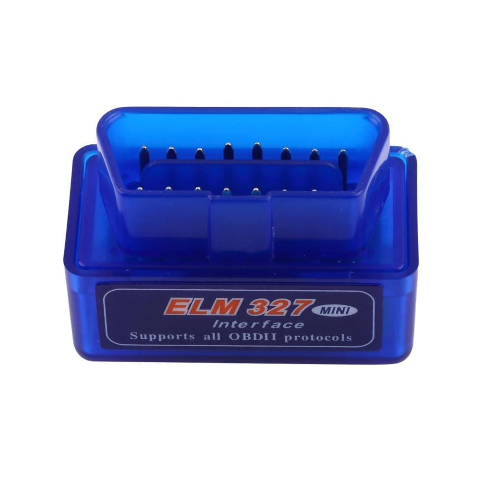 New 1 PCS Blue Portable Mini ELM327 V2.1 OBD2 II Bluetooth Diagnostic Car Auto Interface Scanner ABS Plastic Tool