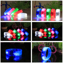48pcs/lot voice control led bracelet Luminous wristband night party props ,glow in the dark party supplies kids light up toy