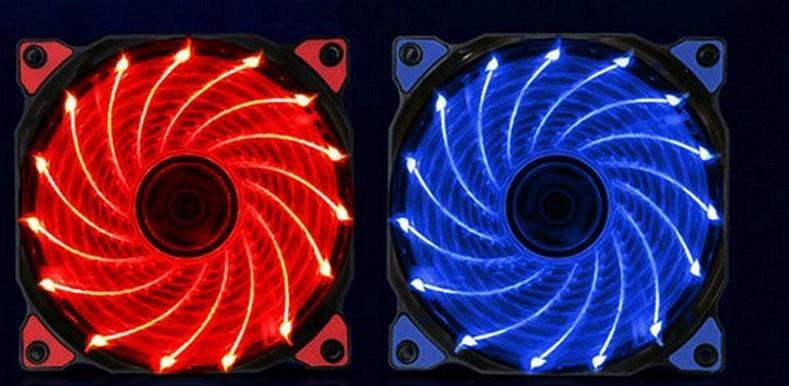 120mm PC computer Ultra Silent LED cooling fan radiator radiator, 12CM fan, 12VDC 3P IDE 4pin